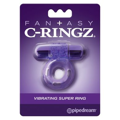 Кольцо на член Fantasy C-Ringz Vibrating Super Ring фиолетовое - основное фото